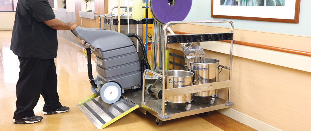 Floor Finish Equipment Cart in Hospital