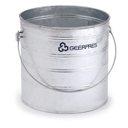 8-gallon Galvanized Round Buckets