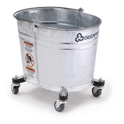 26-quart Seaway® Galvanized Oval Mop Bucket with Casters