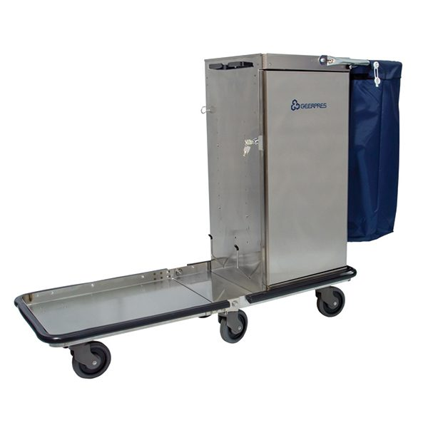 Cart with Flip-Up Tray Option