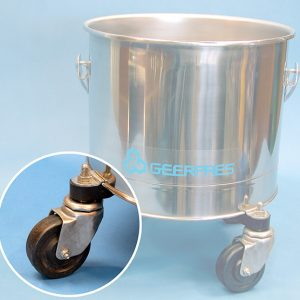 Cleanroom bucket casters