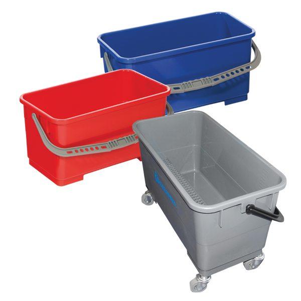 Plastic flat mop buckets