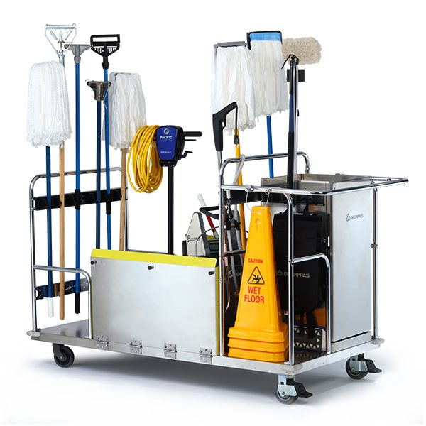 Project Trolley Loaded With Floor Finish Equipment