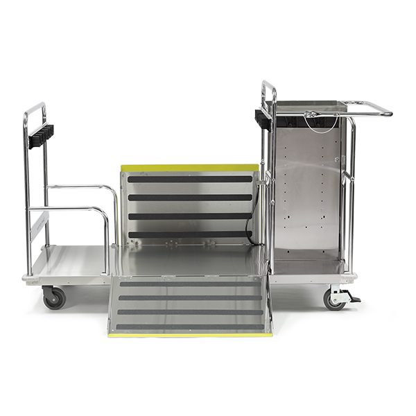Floor Finish Equipment Cart side view with ramp down