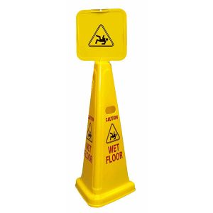 3-sided wet floor sign