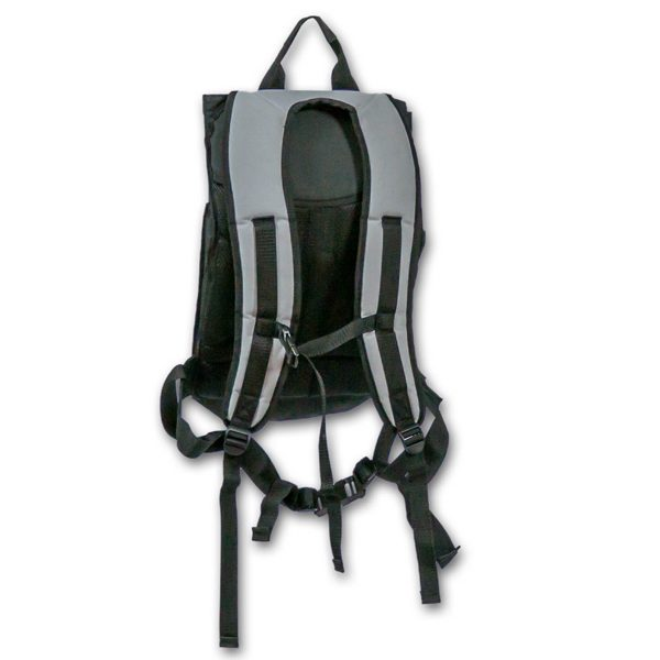 The strap side of the CAT G7 Fluid Applicator Backpack