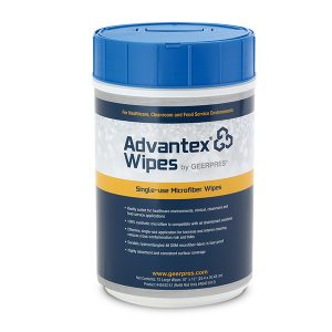 Container of Advantex Disposable Wipes