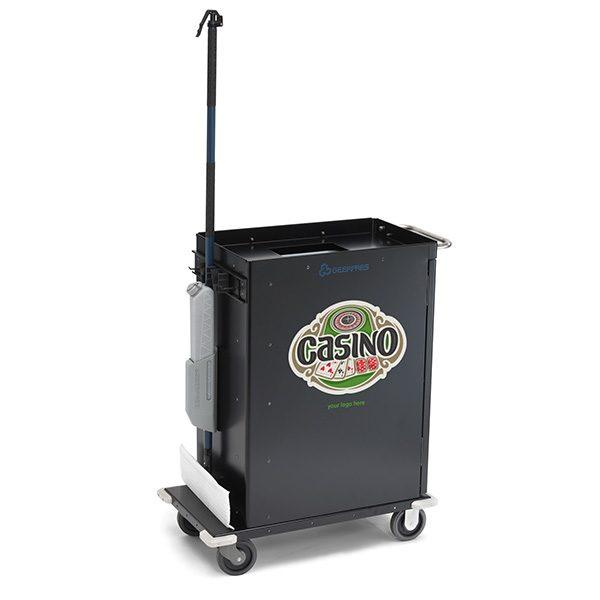 casion cart with custom logo