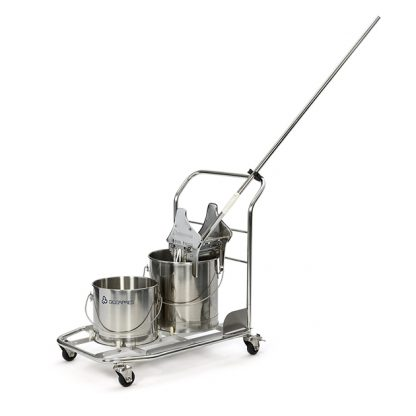 Stainless Steel Trolley w/ Buckets
