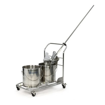 Stainless Steel Trolley w/ Round Buckets