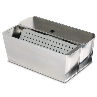 2648 Stainless Steel Flat Mop Bucket Kit (18 and 19 Qt Buckets, Lids, Sieve) image